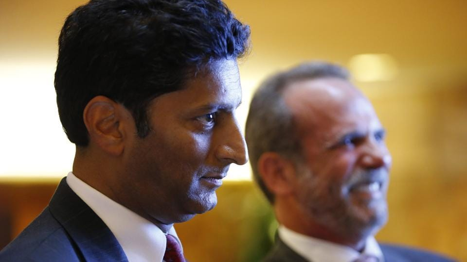 Suresh Chawla (left) of Chawla Hotels and Eric Danziger, CEO of Trump Hotels in New York, at a launch event for four new Trump hotels being built in Mississippi.
