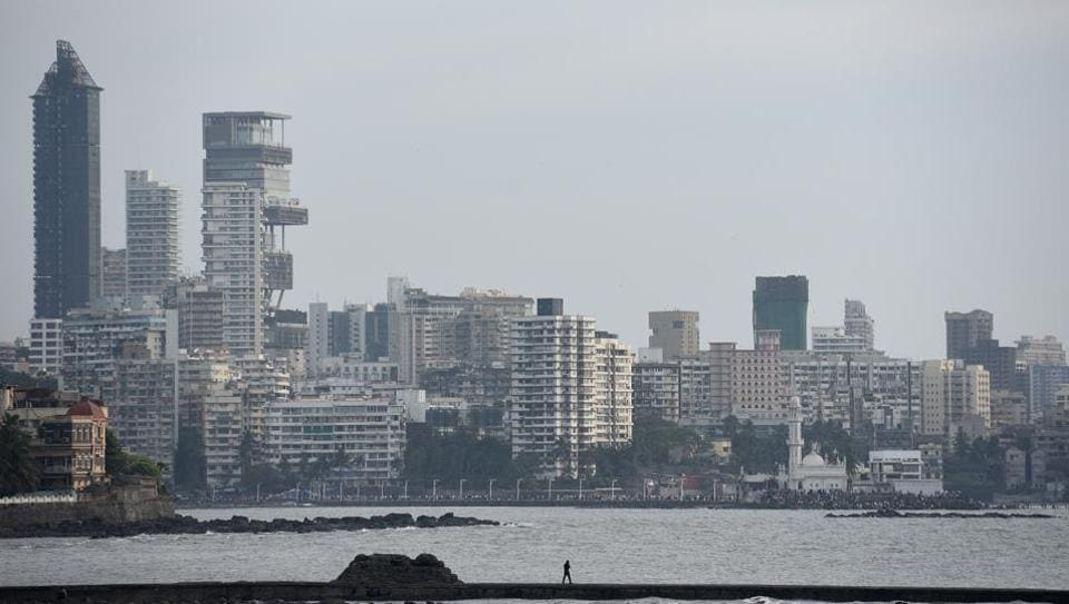 Clear sky on Mumbai skyline at Worli in Mumbai on February 9.