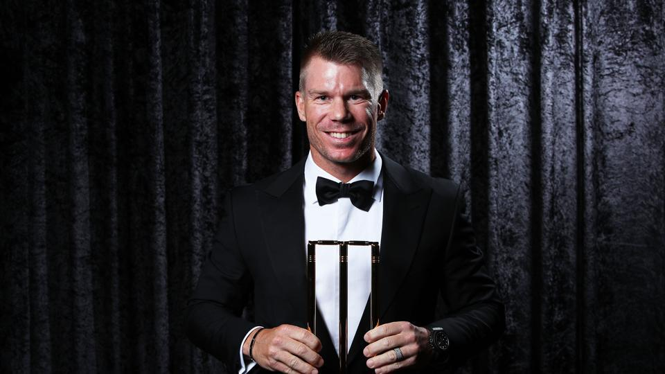 David Warner won the ODI player of the year having averaged 57 during the 12-month voting period, including a century in his 100th ODI. (Getty Images)