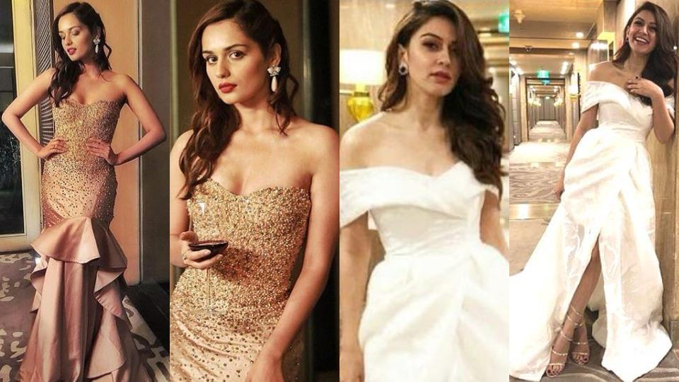Miss World 2017 Manushi Chhillar and actor Hansika Motwani look major in  their gold and white gowns.