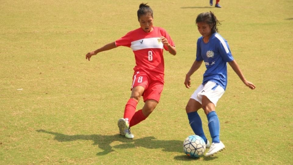 Manipur edged out Railways in the semi-finals of the Senior Women's National Football Championship.