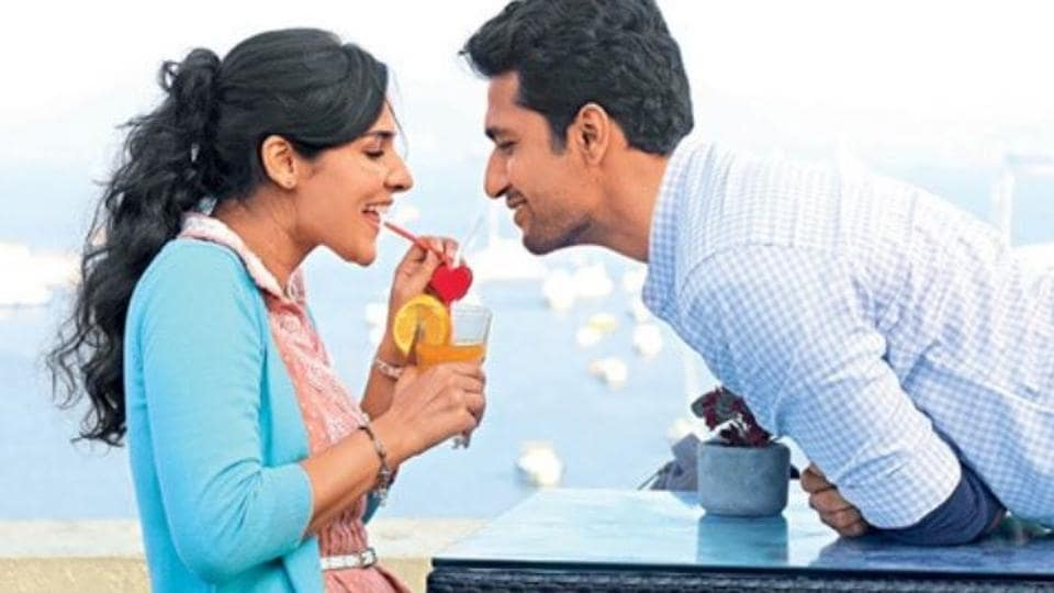 Angira Dhar, Vicky Kaushal in a still from Love Per Square Foot.