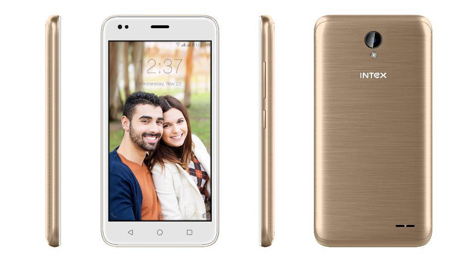Intex Aqua Lions T1 Lite comes in three colour options of 'Royal Black', 'Steel Grey' and 'Champagne'