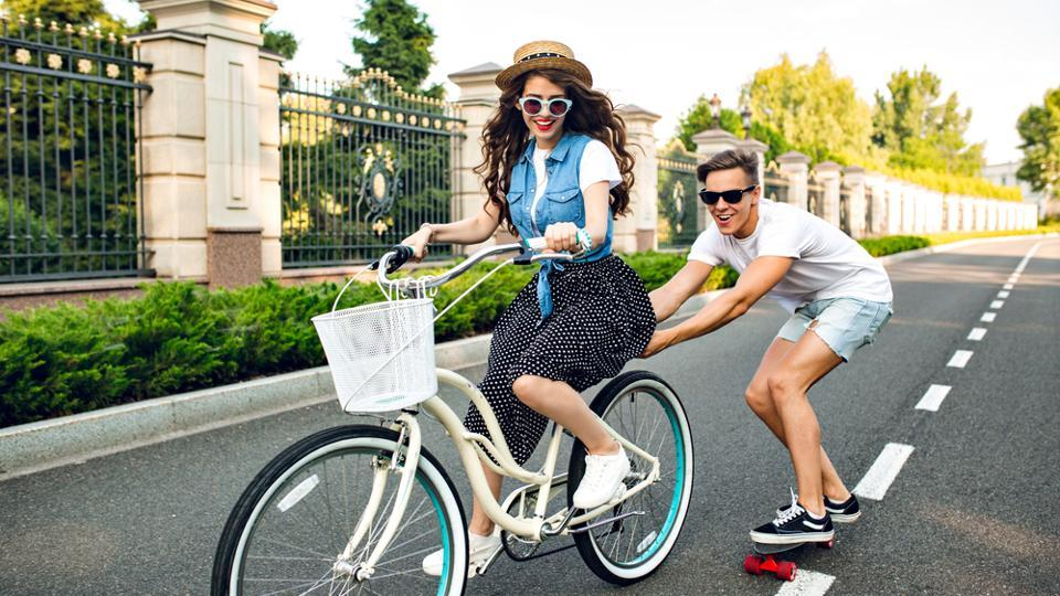 Rent a bike if you are in an urban location and ride along some scenic locations.