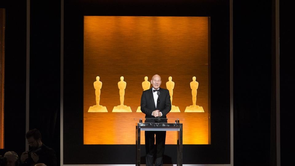 Actor Sir Patrick Stewart hosts the Academy of Motion Picture Arts and Sciences' Scientific and Technical Awards Ceremony.
