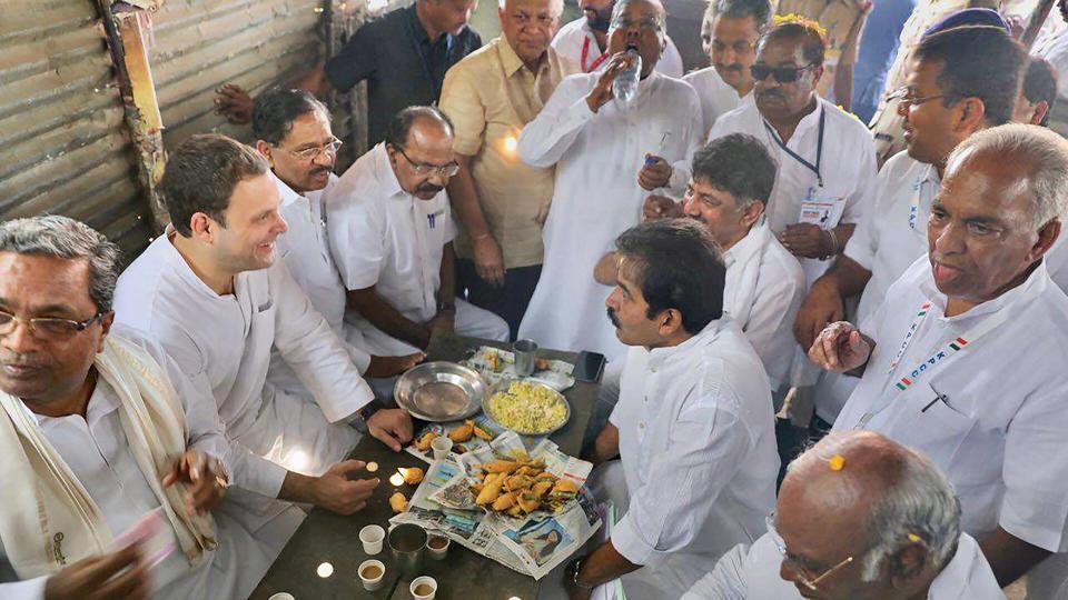 Image result for rahu l gan dhi eat