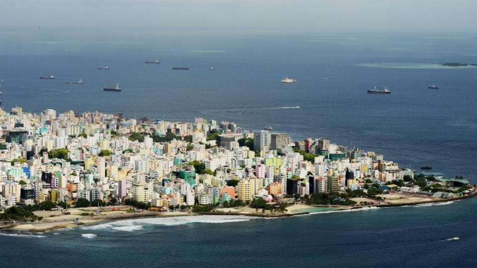 (FILES) This file photo taken on September 11, 2013 shows an aerial view of the island of Male, capital of the Maldives.