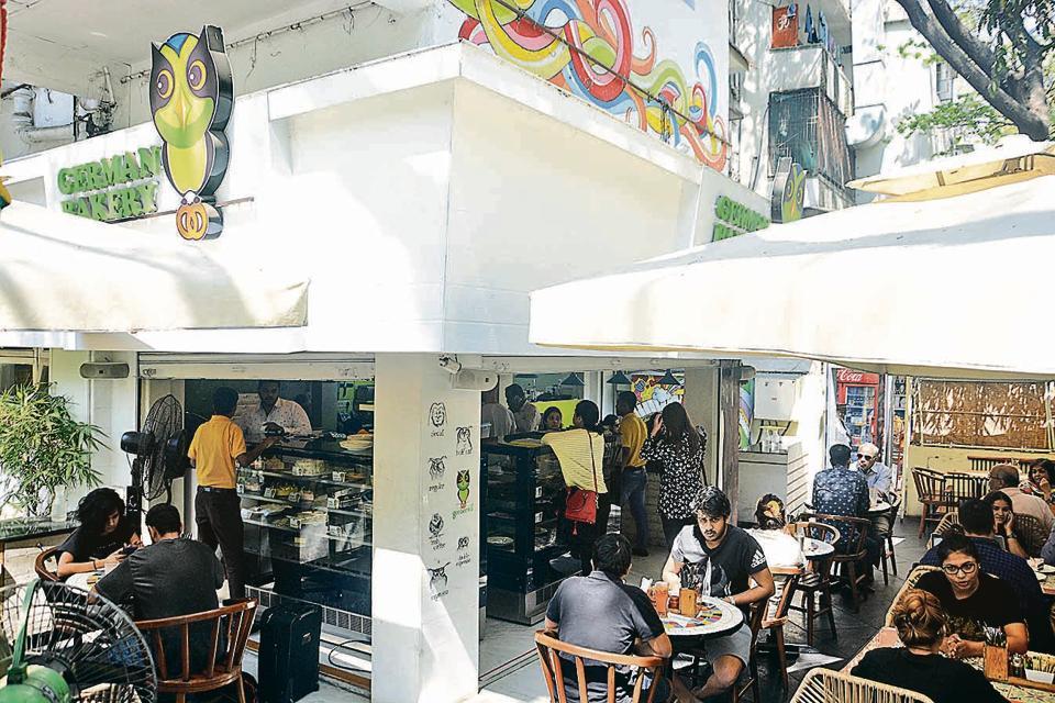 German Bakery at Koregaon Park in Pune.