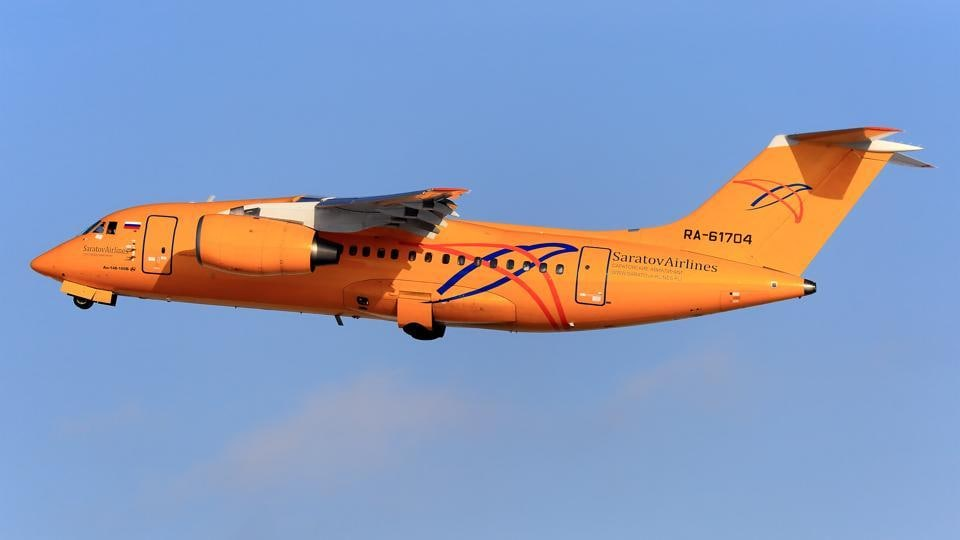 A similar Antonov AN-148 plane takes off from the Domodedovo airport outside Moscow, Russia on February 1, 2018. The Russian-made plane was reportedly seven years old and bought by Saratov Airlines a year ago. (Mikhail Grigoryev / REUTERS)