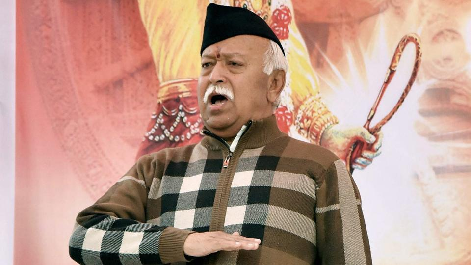The Rashtriya Swayamsevak Sangh (RSS) said that its chief Mohan Bhagwat did not disrespect the army or comment on its preparation during a speech given a day earlier in Bihar's Mirpur. (PTI File)