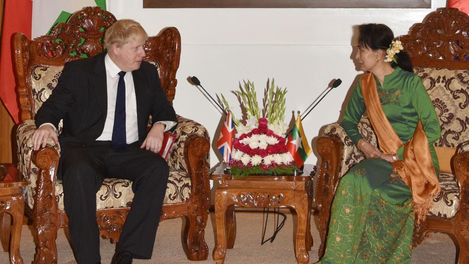 Aung San Suu Kyi,Boris Johnson,Rohingya crisis