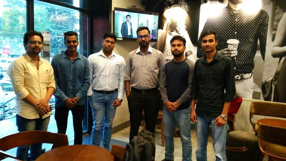 Kumar Ranjan, an engineering graduate(3rd from right), is the managing director of Lucknow Entrepreneurship and Development Services, which is working to help those who have ideas but no money.