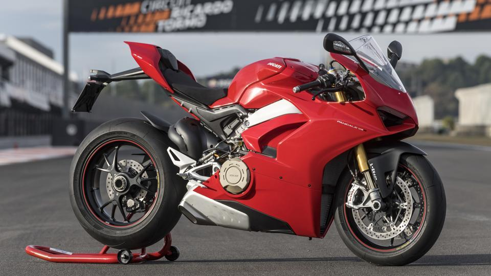 The new 2018 Ducati Panigale V4 S.