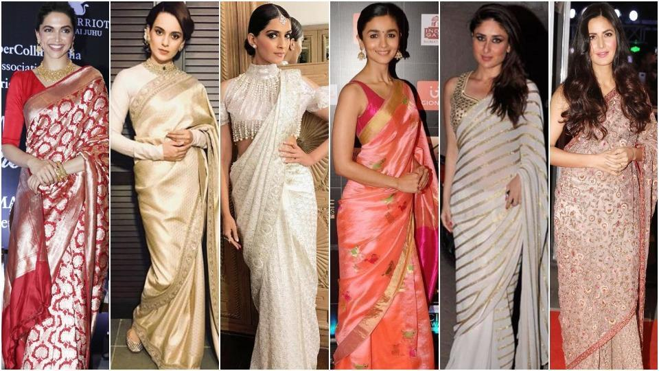 Scroll through to see your favourite celebrities in sarees for the ultimate inspiration.