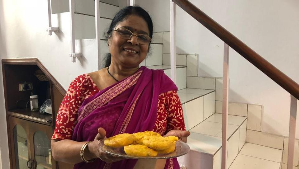 Shubha Sinha at her apartment in east Delhi's Mayur Vihar Phase I.