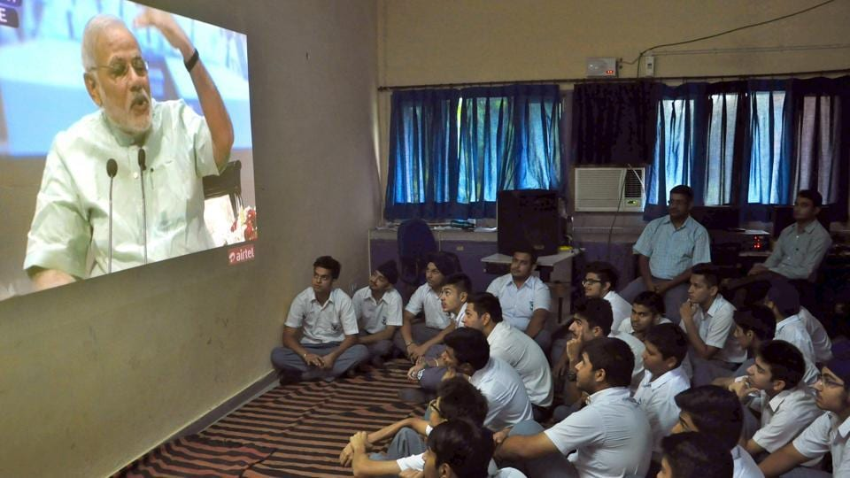 PMNarendra Modi had earlier addressed students on Teachers' Day in 2014.