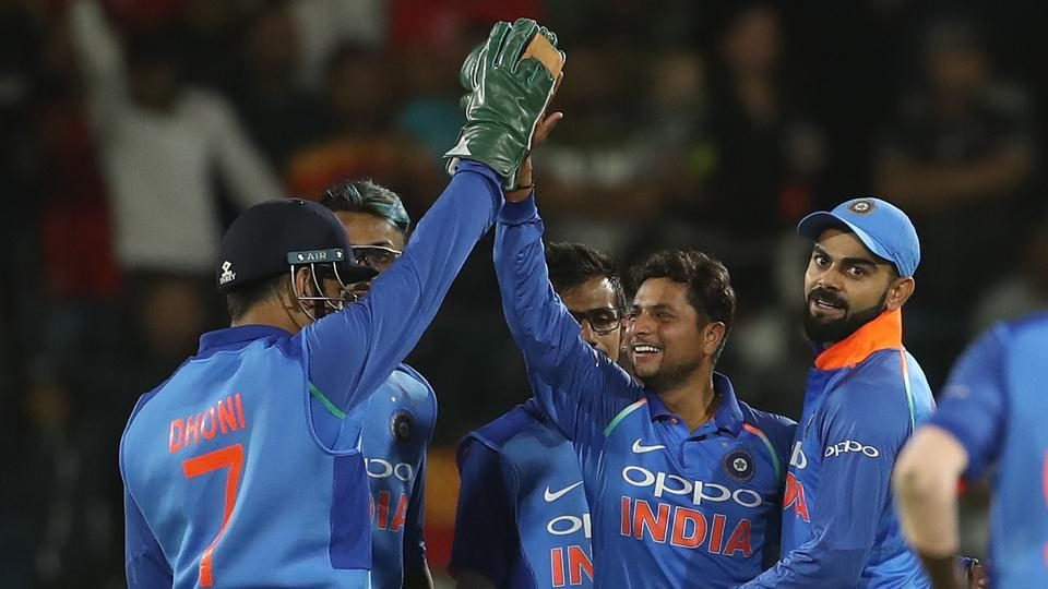 Kuldeep Yadav took four wickets during the fifth ODI between South Africa and India at the St George's Park Cricket Ground in Port Elizabeth. Get