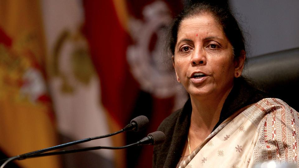 Defence minister Nirmala Sitharaman speaks to the media in Jammu on February 12, 2018.