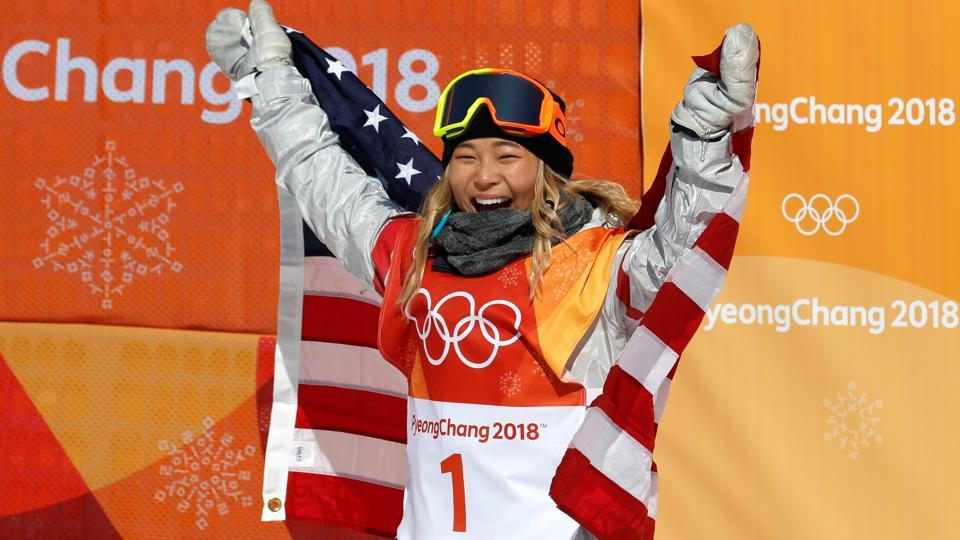 Snowboarding - Pyeongchang 2018 Winter Olympics - Women's Halfpipe Finals - Phoenix Snow Park - Pyeongchang, South Korea - February 13, 2018 - Chloe Kim of the U.S. celebrates her win. (REUTERS)