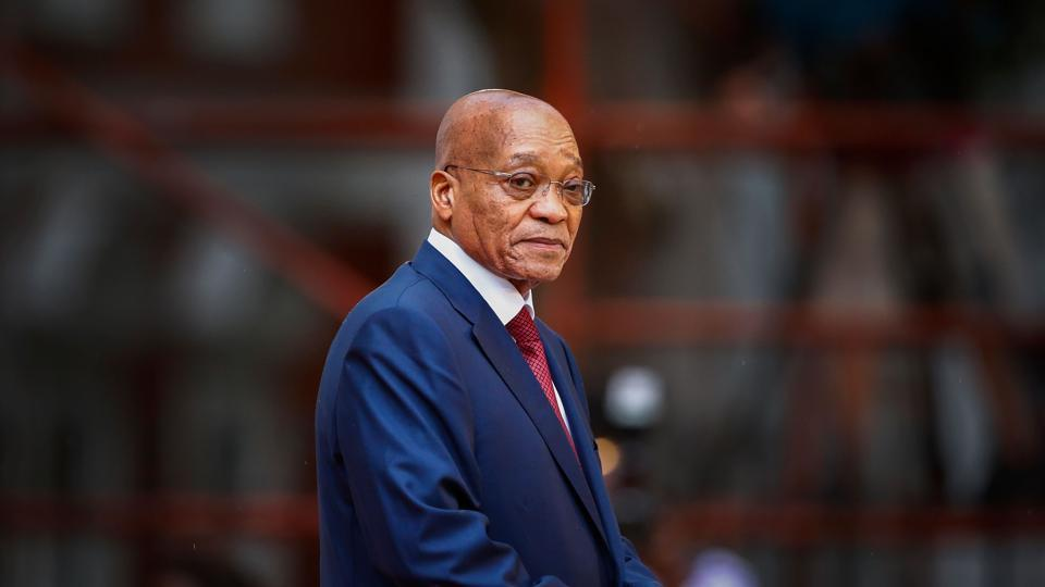 In this photo taken on February 12, 2015 South African president, Jacob Zuma, arrives for the formal opening of parliament in Cape Town.