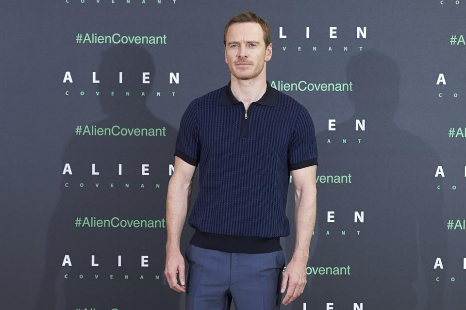 Actor Michael Fassbender attends a photocall for Alien: Covenant at the Villa Magna hotel in Madrid on May 8, 2017.