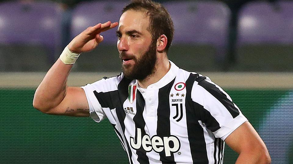 Juventus' Gonzalo Higuain will be in action against Tottenham Hotspur in the UEFA Champions League.
