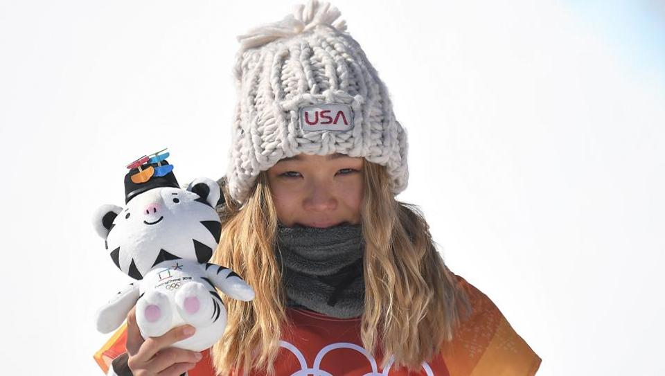 Chloe Kim won the gold in the women's snowboard halfpipe final event at the 2018 Winter Olympics.