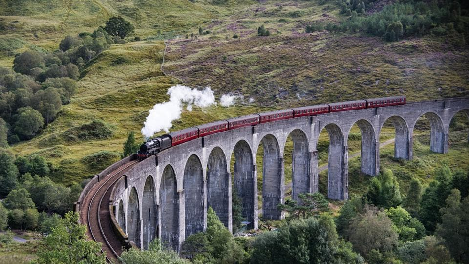 In Scotland, the Glenfinnan Viaduct is instantly recognisable as the bridge that carries the Hogwarts Express.