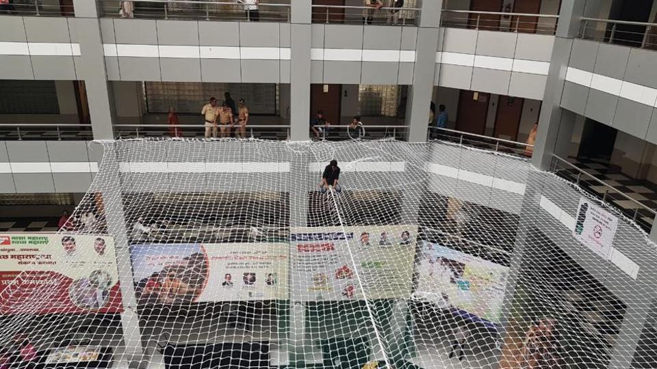 suicides at Mantralaya,Safety nets at Mantralaya,Maharashtra government
