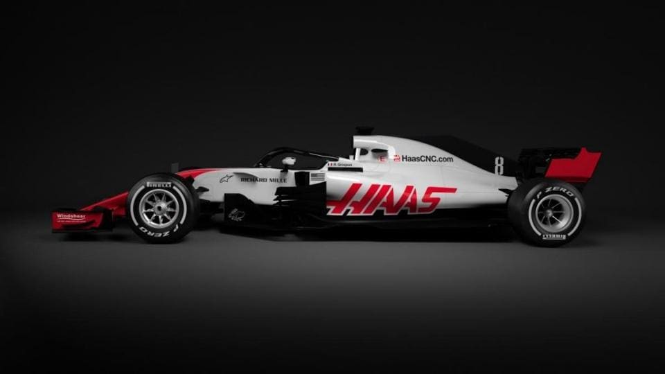 Haas offered a glimpse of their 2018 Formula One car on Wednesday.