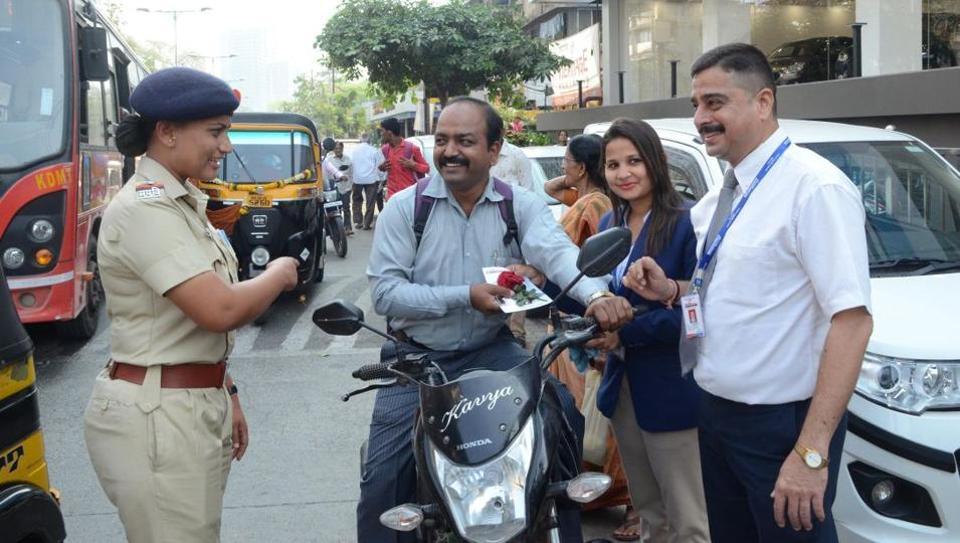 Valentine's Day,Kalyan RTO,helmetless bikers