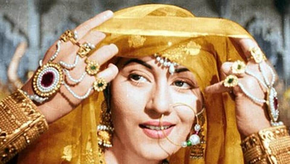 A rare gem called Madhubala. Seen here, in a classic shot from K Asif's Mughal-e-Azam.