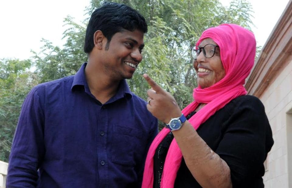 Pramodini and Saroj share a lighter moment.