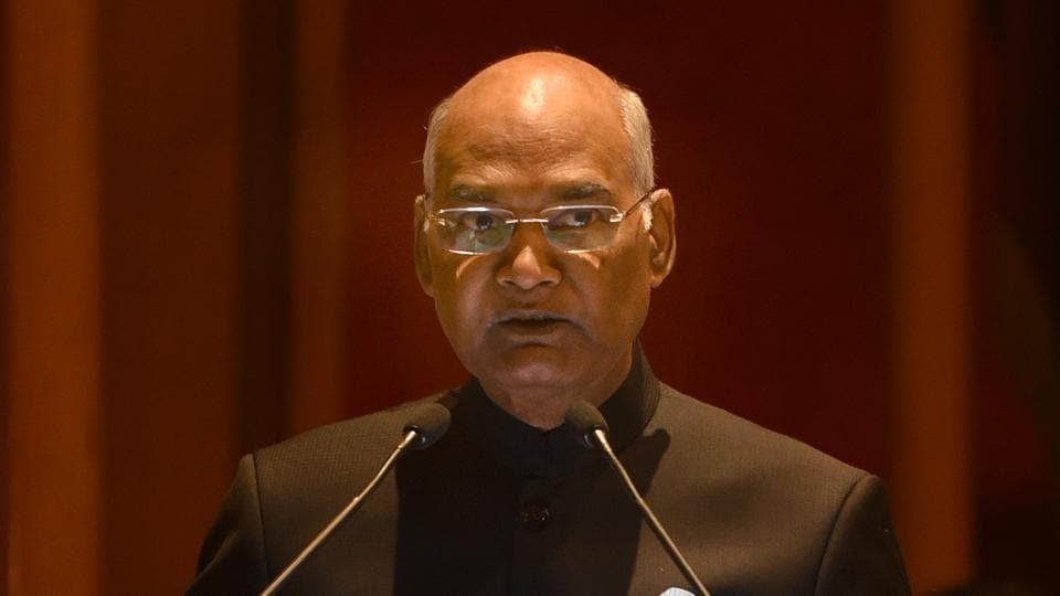 President Ram Nath Kovind addressing at the inauguration of the International Conference of PIO Parliamentarians in New Delhi.