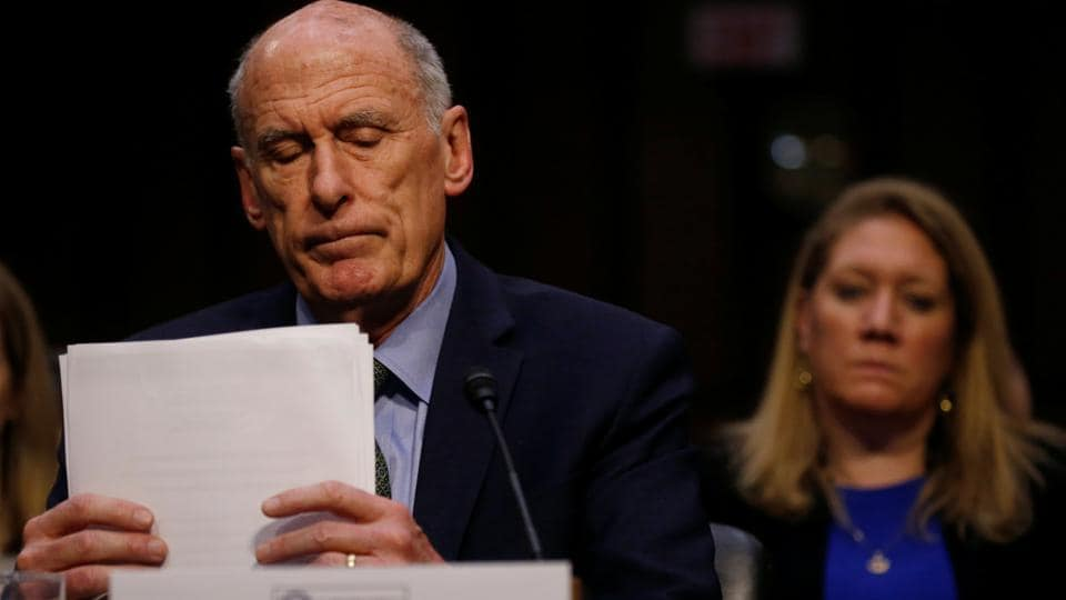 Director of National Intelligence (DNI) Dan Coats testifies during a Senate Intelligence Committee hearing on