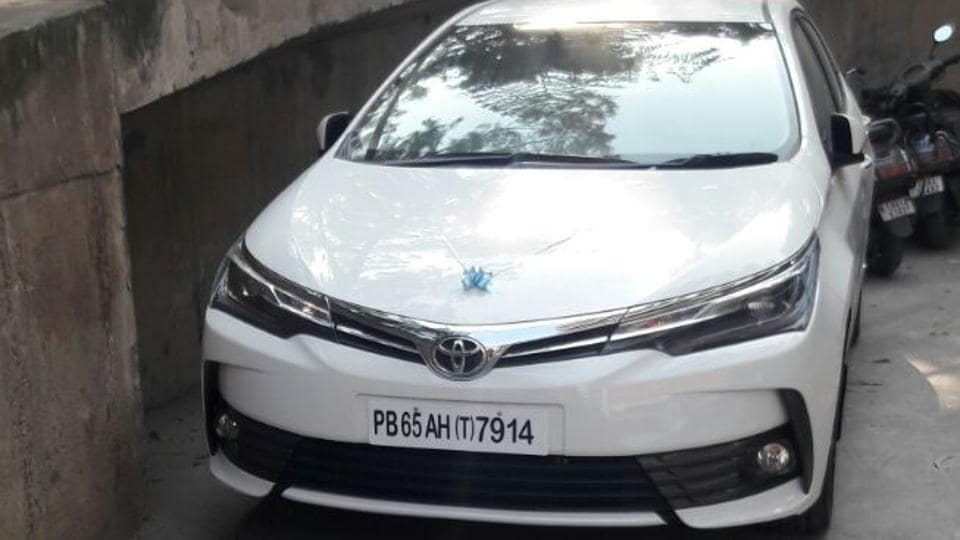Toyota Corolla Altis, which was bought for Rs 20 lakh.