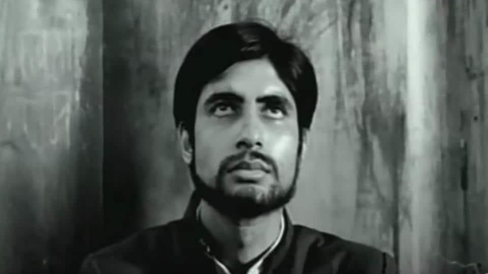 AmitabhBachchan as Bihar's Anwar Ali in KAAbbas' directorial Saat Hindustani (1969).