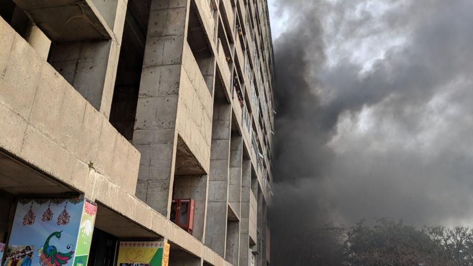 Chandigarh,Fire breaks out,Haryana civil secretariat