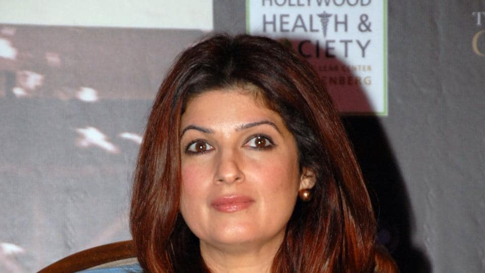 Twinkle Khanna during the promotion of PadMan in Mumbai.
