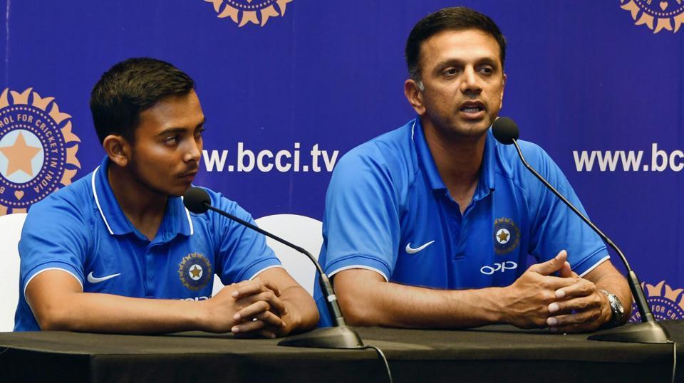 Rahul Dravid,ICCU-19 Cricket World Cup,Prithvi Shaw