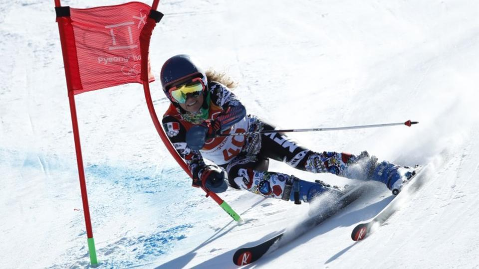 Alpine Skiing – Pyeongchang 2018 Winter Olympics – Women's Giant Slalom – Yongpyong Alpine Centre - Pyeongchang, South Korea – February 15, 2018 - Sarah Schleper of Mexico competes. REUTERS/Mike Segar