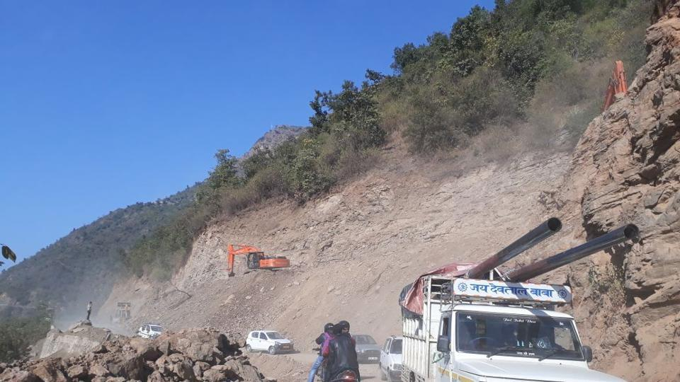 Construction of an all-weather road in Uttarkhand's Champawat is causing  delays of long-distance passenger buses and has led to a number of road accidents