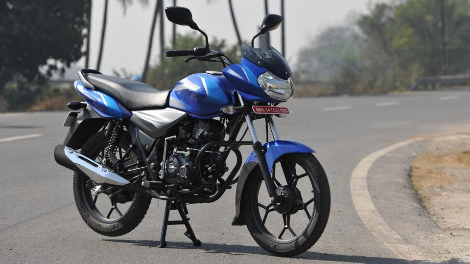 The Bajaj Discover 110 rides particularly well, thanks to its telescopic fork and twin shock absorbers.