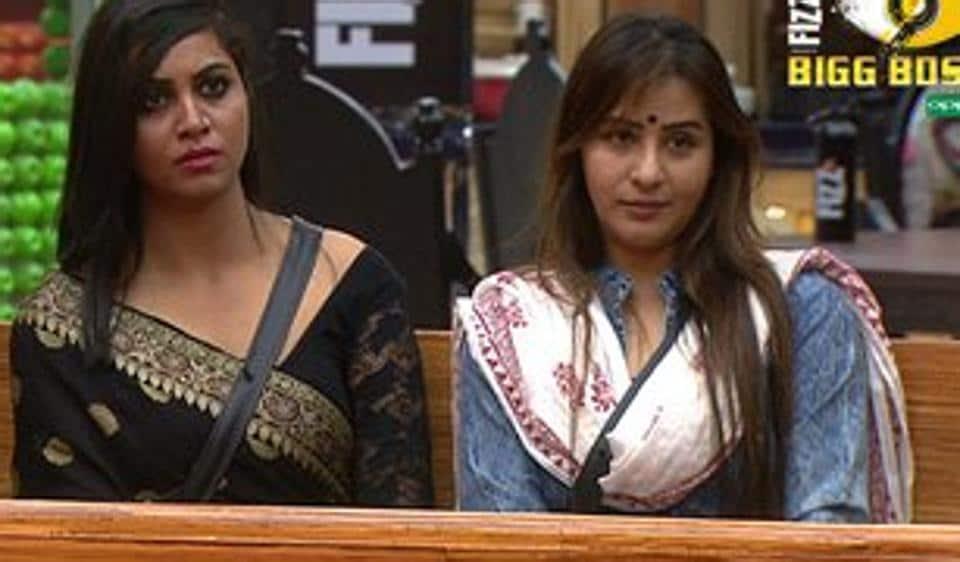 Arshi Khan and Shilpa Shinde inside the Bigg Boss 11 house.
