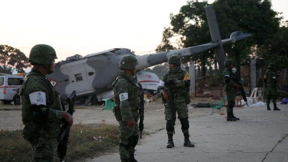 Mexican earthquake,helicopter crash,military helicopter