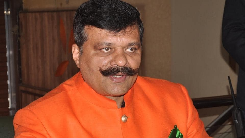 Khanpur legislator Kunwar Pranav Singh 'Champion' who was issued a show-cause notice by the BJP on Saturday.