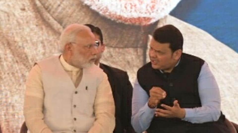 Narendra Modi,Nitin Gadkari,Devendra Fadnavis