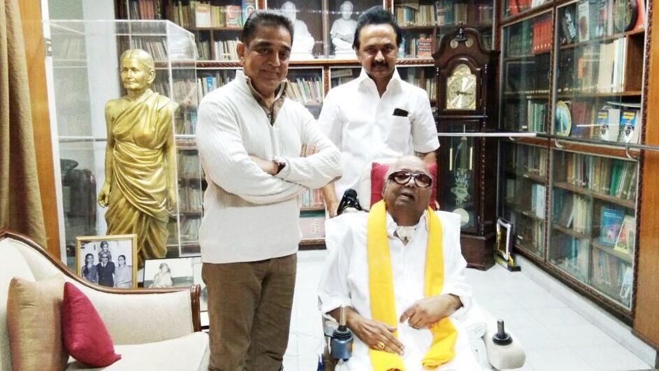 Picking ideologies from everyone: Kamal Hassan after meeting Karunanidhi