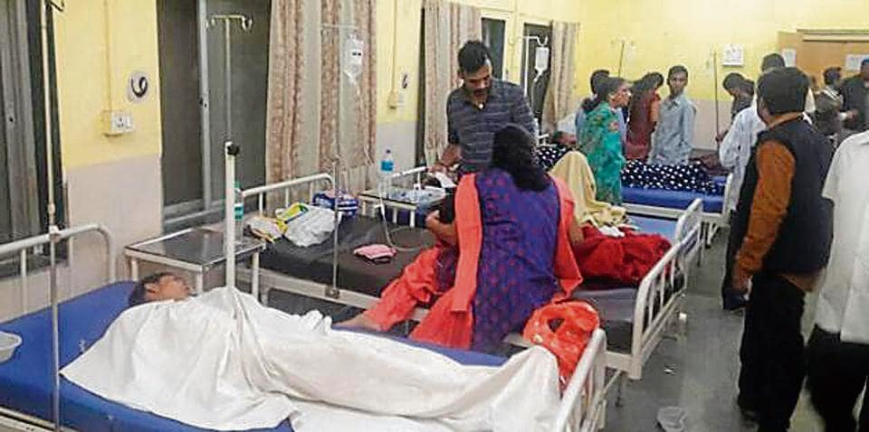 Around 100 guests have fallen ill after consuming carrot halwa at a wedding on Sunday afternoon.