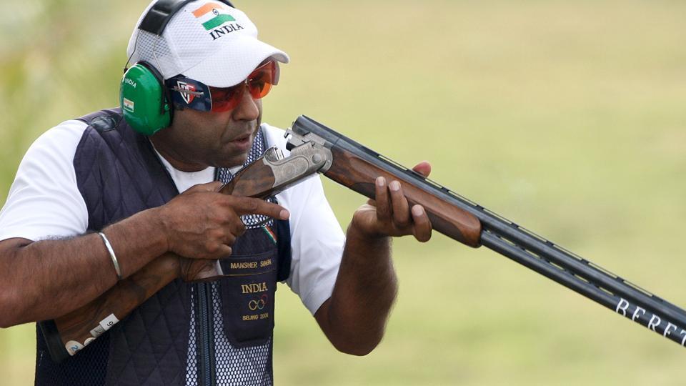 Indian shooting team,Mansher Singh,NRAI